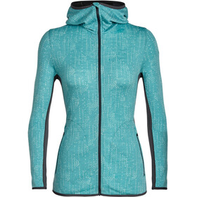Icebreaker Away Showers LS Zip Hood Women ocean/monsoon